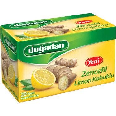 Doğadan Zencefil Limon Kabuklu Çay 20'lik
