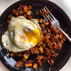 Egg Hash, Sweet Potato Hash
