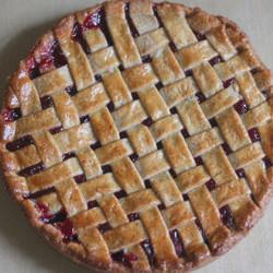 Raspberry Hazelnut Linzer Tart