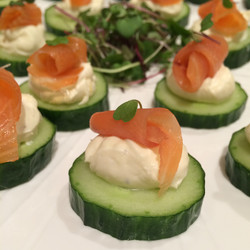 Lox cucumber hors d'oeuvre