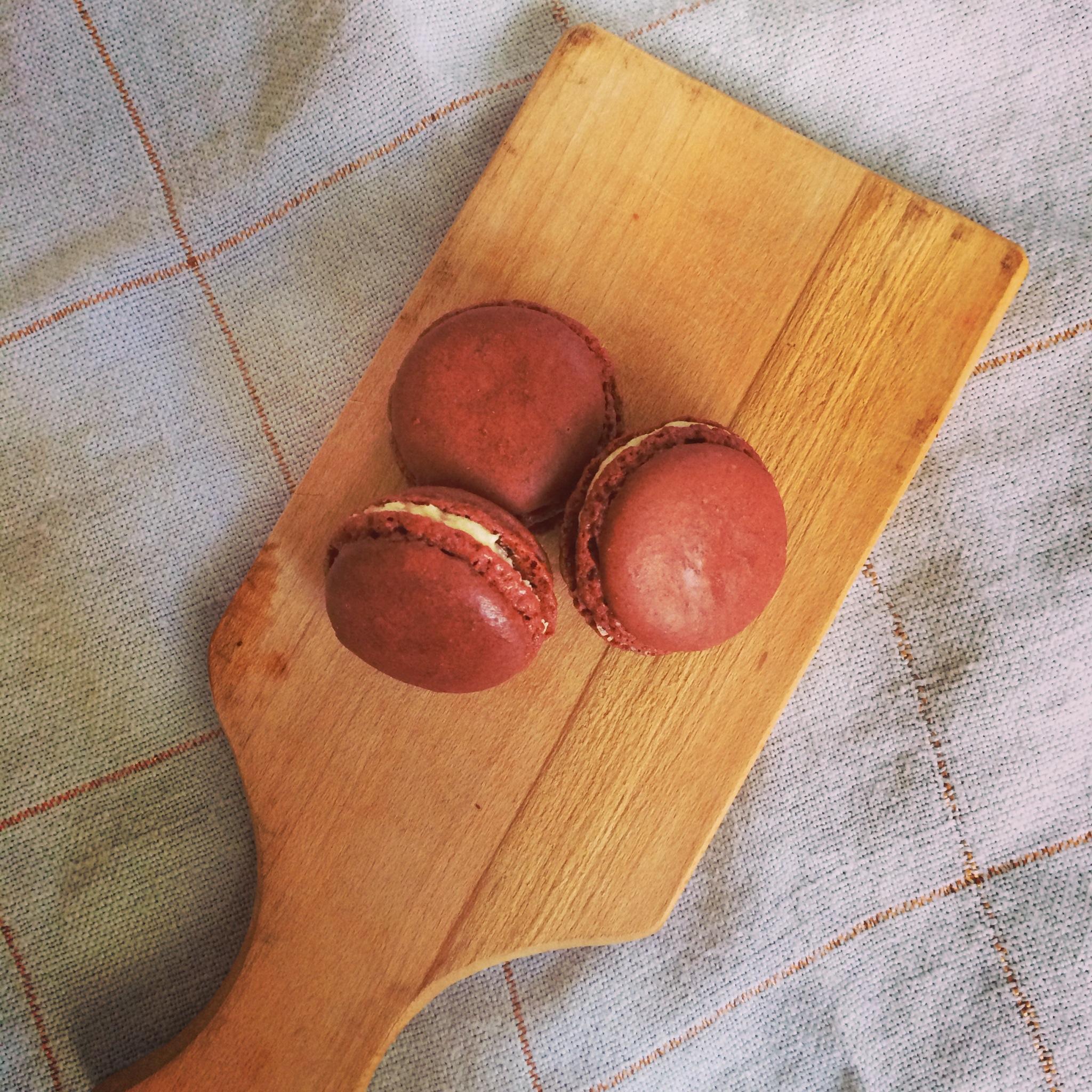 Cranberry Macarons