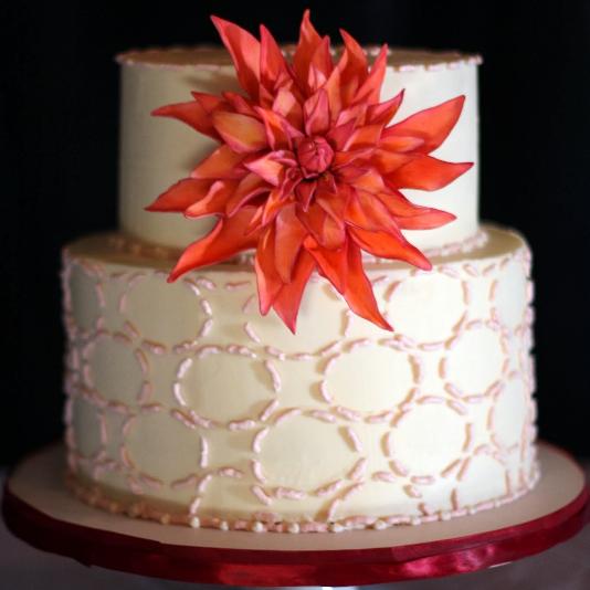 Dahlia Wedding Cake, Wedding Cake NY