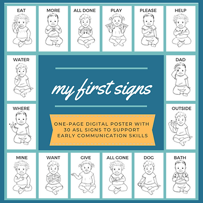 My First Signs: Digital Poster