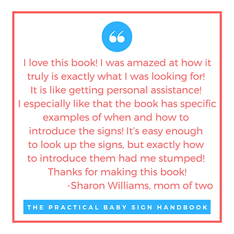 The Practical Baby Sign Handbook, baby sign, baby sign language, speech therapy