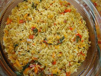 Plato de arroz con Vegetales