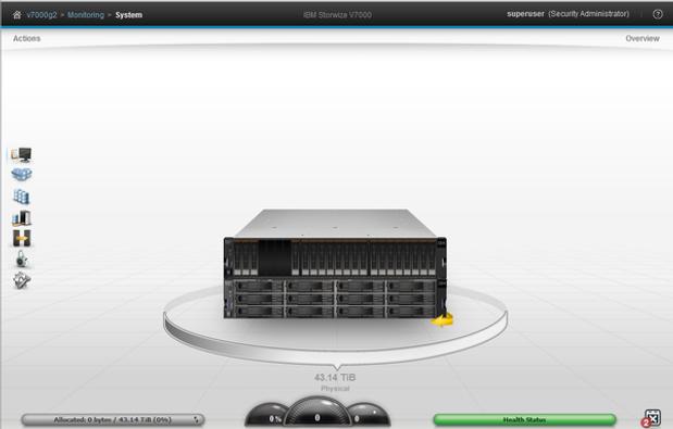 Storwize V7000 interface