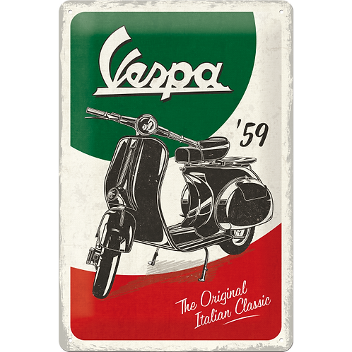 Vespa - The Italian Classic Blechschild 20 x 30 cm