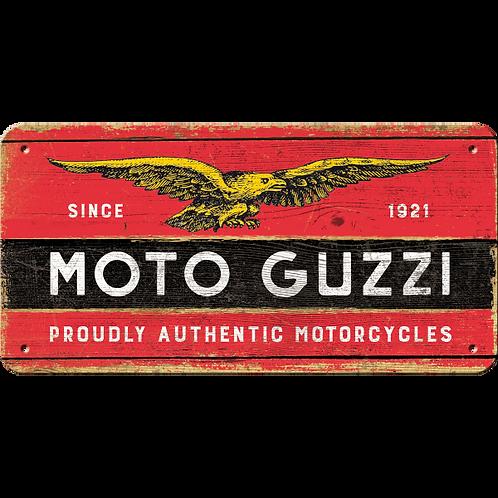 Moto Guzzi - Logo Wood Hängeschild 10 x 20 cm