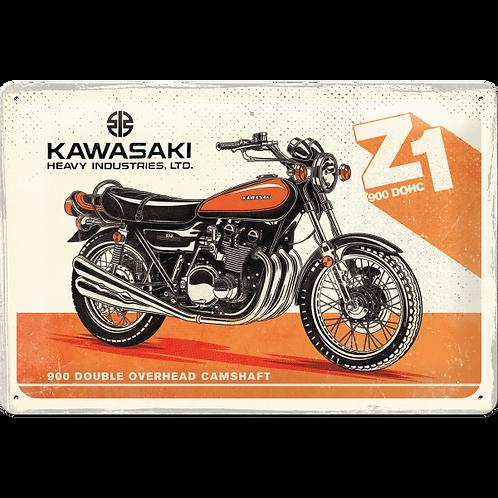 Kawasaki - Motorcycle Z1 Blechschild 20 x 30 cm