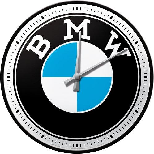BMW - Logo Wanduhr 31x6x31