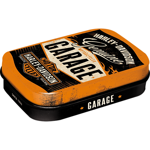 Harley-Davidson Garage Pillendose 4 x 6 x 2 cm
