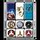 Thumbnail: Mercedes-Benz - Logo Evolution Magnet-Set (9teilig) 7 x 9,3 x 2 cm