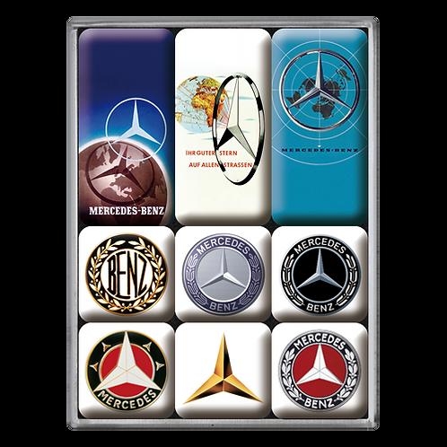 Mercedes-Benz - Logo Evolution Magnet-Set (9teilig) 7 x 9,3 x 2 cm