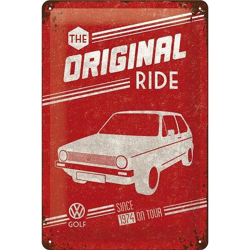 VW Golf - The Original Ride Blechschild 20 x 30 cm