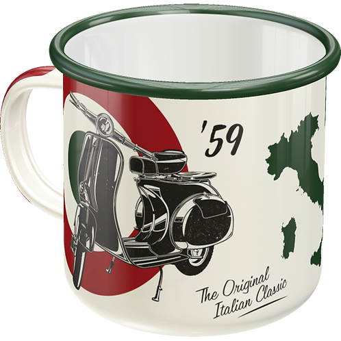Vespa - The Italian Classic Emaille-Becher 8 x 8 x 8 cm