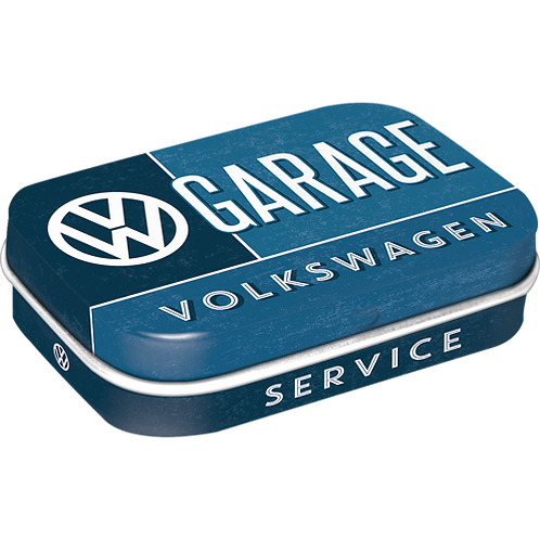 VW Garage Pillendose 4 x 6 x 2 cm