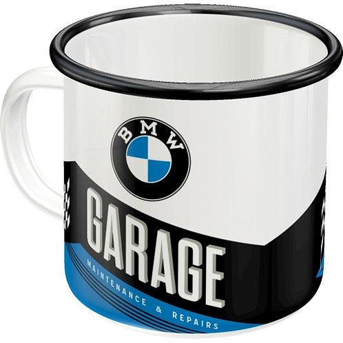 BMW - Garage Emaille-Becher 8x8x8
