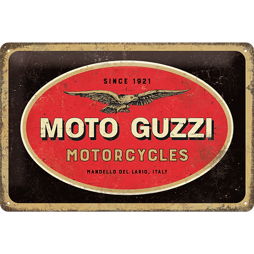 Moto Guzzi - Logo Motorcycles Blechschild 20 x 30 cm