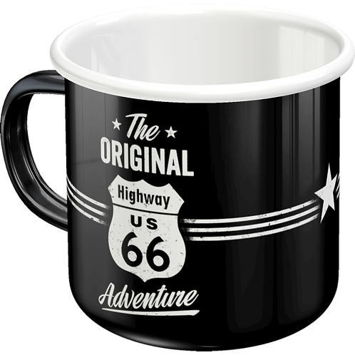 Highway 66 The Original Adventure Emaille-Becher 8 x 8 x 8 cm