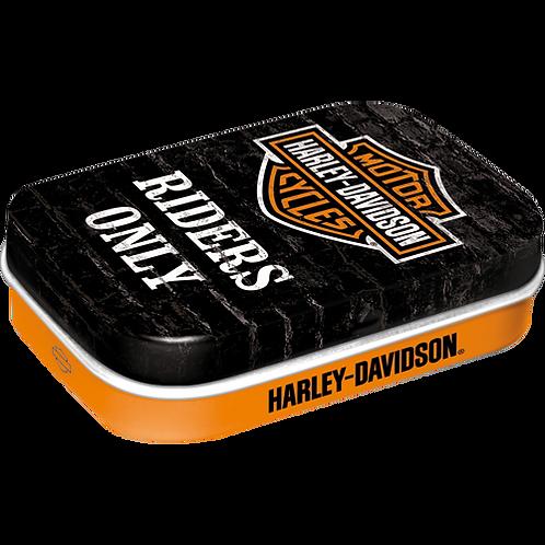 Harley-Davidson Riders Only Pillendose 4 x 6 x 2 cm