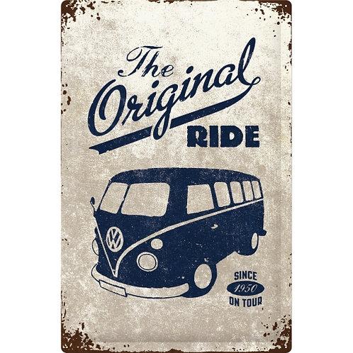 VW Bulli - The Original Ride Blechschild 40 x 60 cm