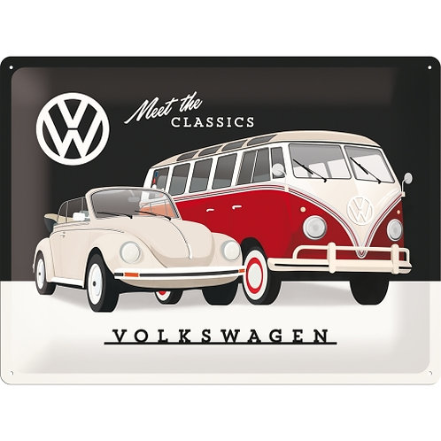 VW - Meet The Classics Blechschild 30 x 40 cm