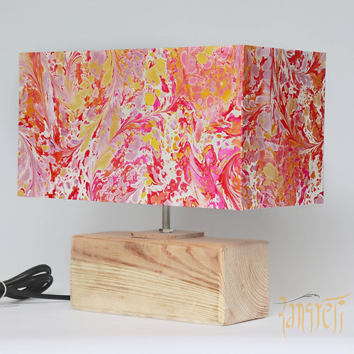 Marbling Rectangle Table Lamp 3005