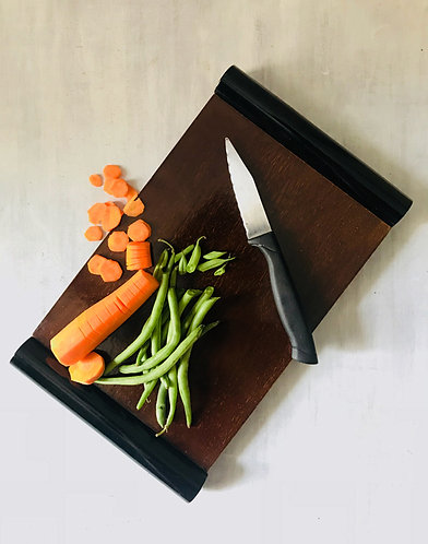 Reversible Serving Tray cum Chopping Board With Black Handle 1123