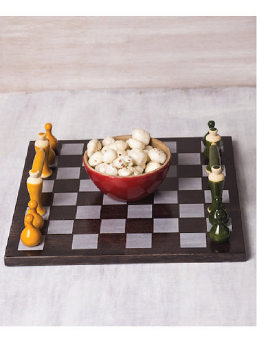 Handcrafted Chess Inspired Tray 1011
