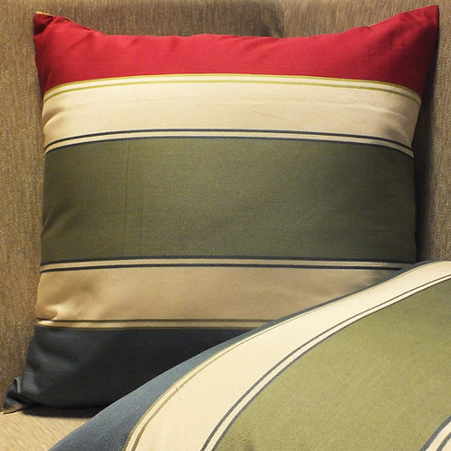 Geometric Stripes Linen Cushion cover