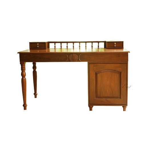 Anglo Indian Antique Desk with Cabinet 11