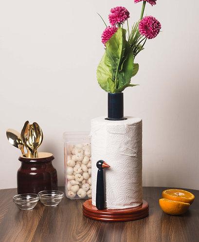 Tissue roll and flower vase holder - Blue 1167