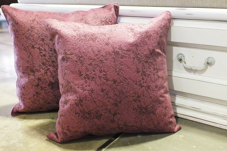 Rouge Pink Polychenille cushion cover