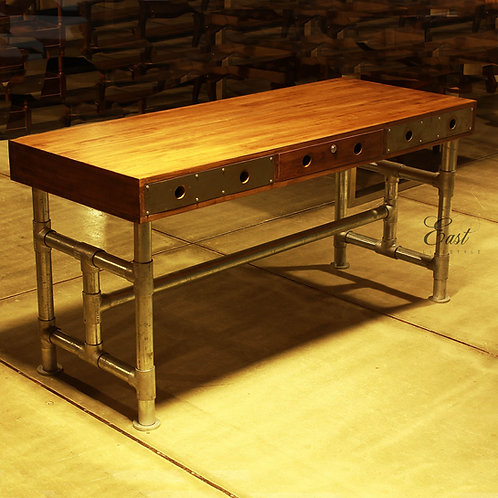 Industrial Pipe Study Desk 1365
