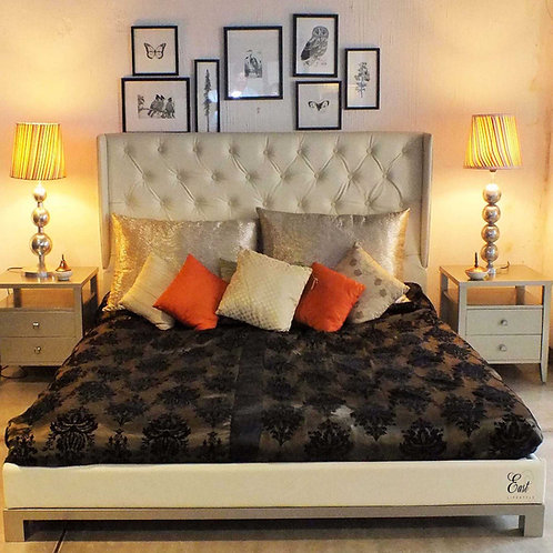 Arlington Bed with winged headboard 1433