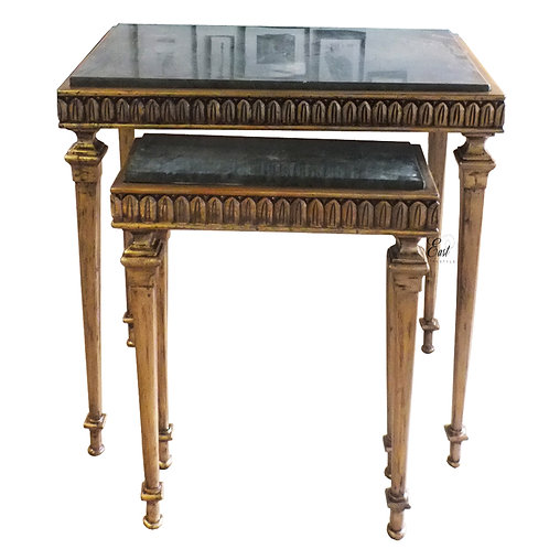 Vostov Nest of Tables with granite top ( 2 tables) 1502