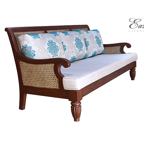 Lord Clive Wood and Cane Sofa 168