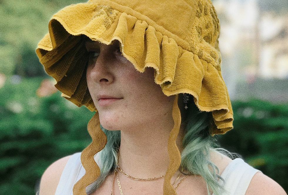 The Amy Patchwork Terry Towel Hat
