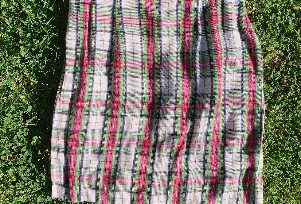 SZ 4/6 Jawbreaker Pink + Lime 90s Plaid Mini Skirt
