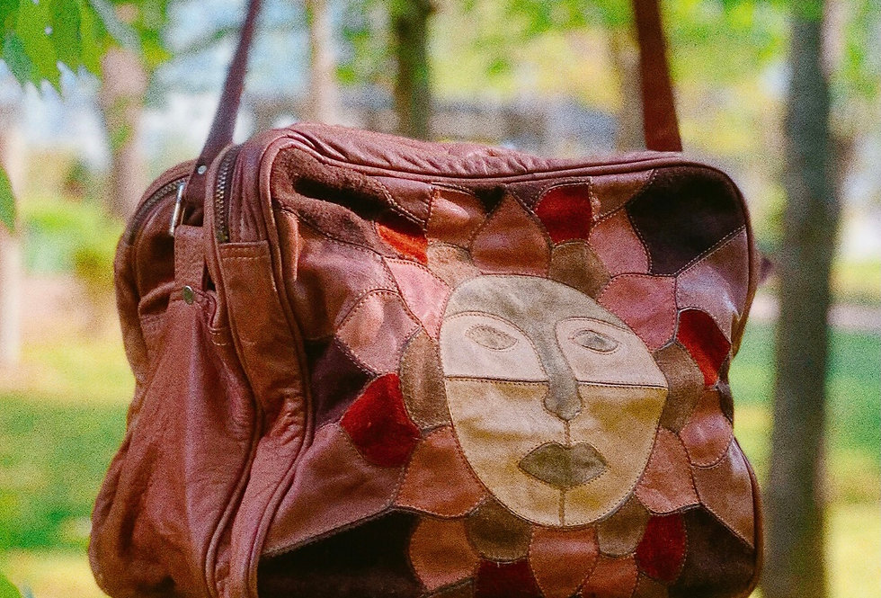 70s Leather Patchwork Sun Bag