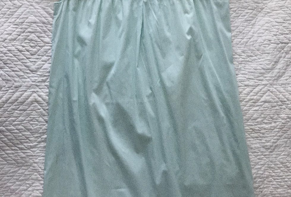 Embroidered Mint Collared Nightgown