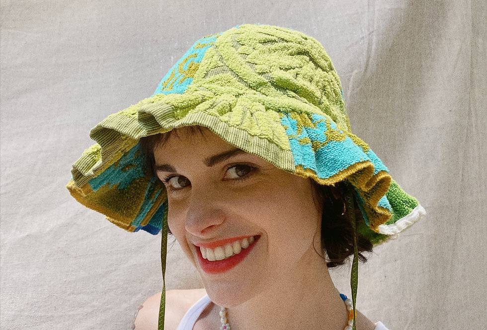 The Kelly Patchwork Terry Towel Hat