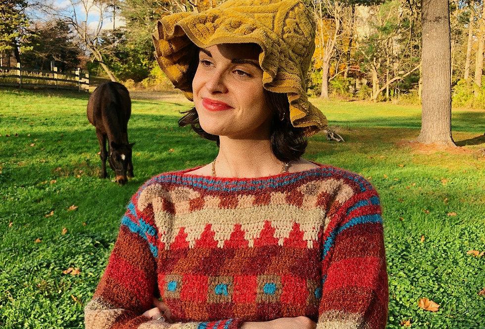 Southwest Crochet Boatneck Sweater