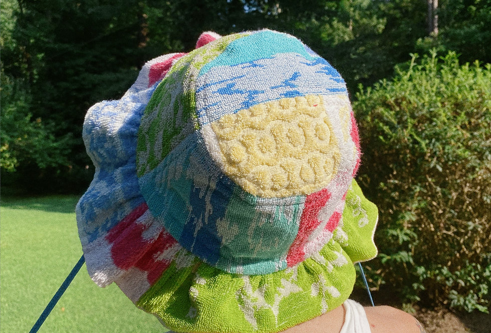 The Ava Patchwork Towel Hat