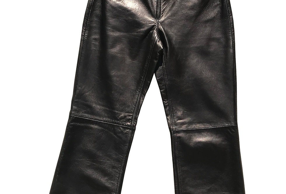 Y2K Zip Front Buttery Leather Pants