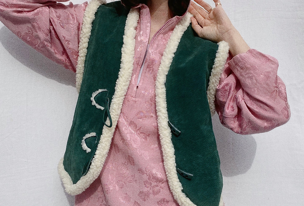 Pink Drapey Floral Jacquard Hooded Tunic