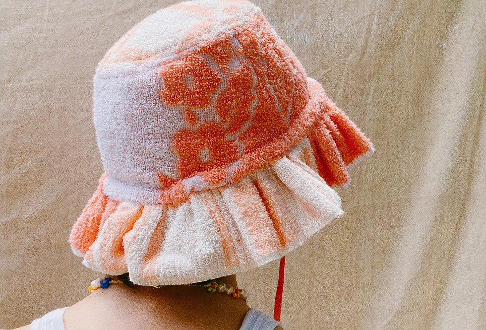 The Hanna Patchwork Terry Towel Hat