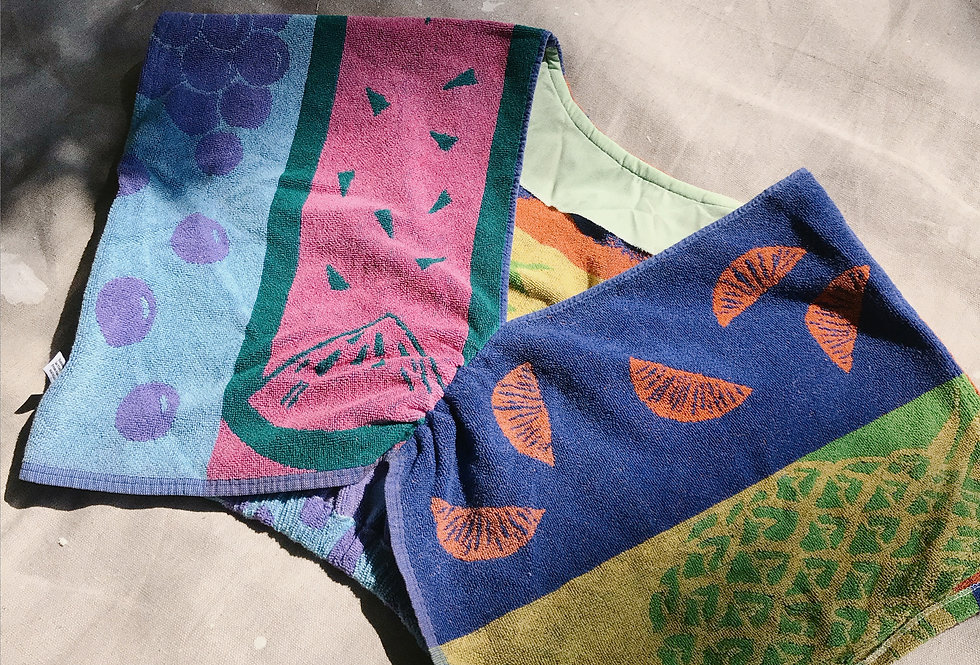 SZ B Tooty Fruity Reversible Towel Pullover