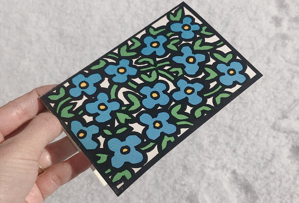 Deadstock 1960s Forget-Me-Not Card