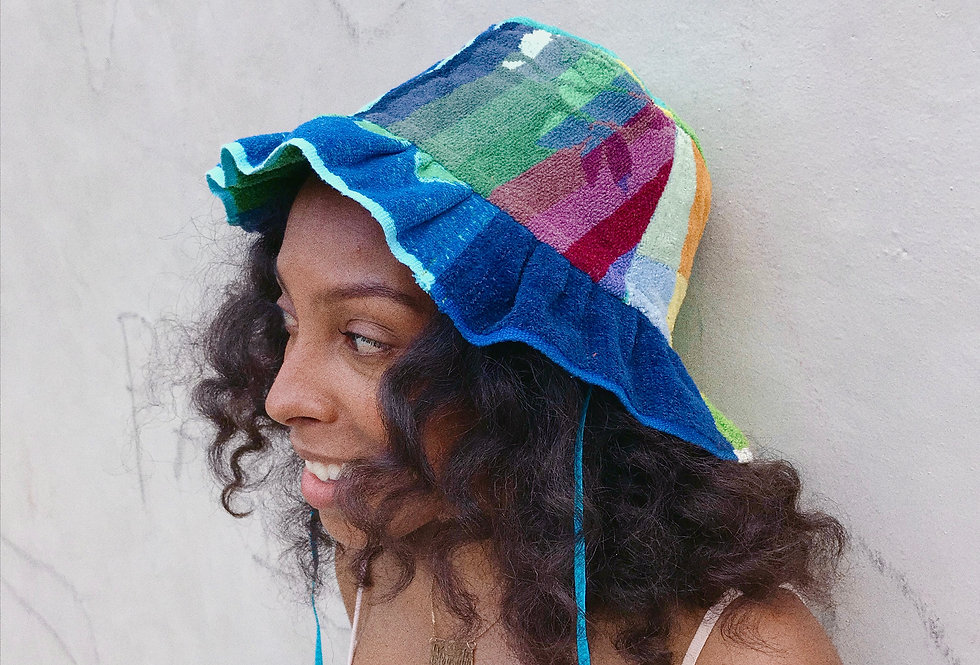 The Chelsea Patchwork Terry Towel Hat